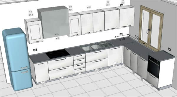 Disegna cucina amazing cool cucina da colorare with for Disegnare stanza online
